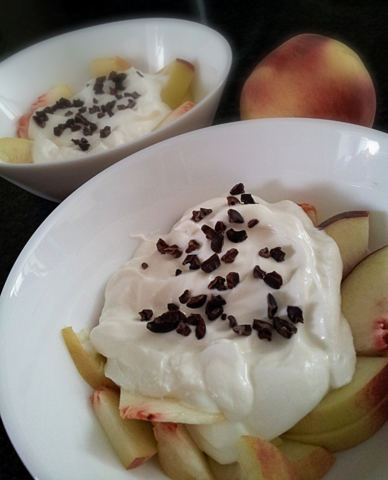Greek yogurt and fruits